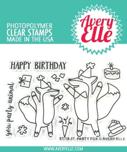 Party Fox Clear Stamps - Avery Elle
