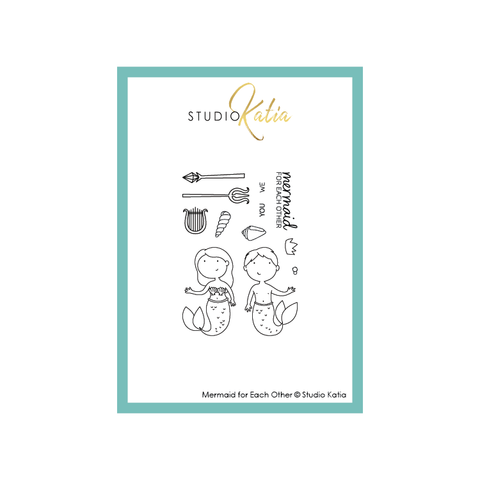 Mermaid for Each Other | Clear Stamp Set STUDIO KATIA