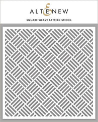 Square Weave Pattern Stencil - ALTENEW