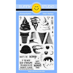 Two Scoops Stamps- Sunny Studio Stamps