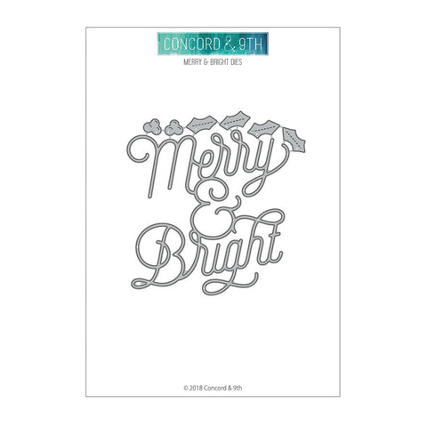 Merry & Bright dies - Concord & 9th