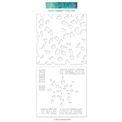 Faceted Turnabout Stencil pack- Concord & 9th
