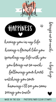 Happiness Stamps- Neat & Tangled