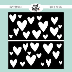 Heart Duo - Simply  Stencil - Neat & Tangled