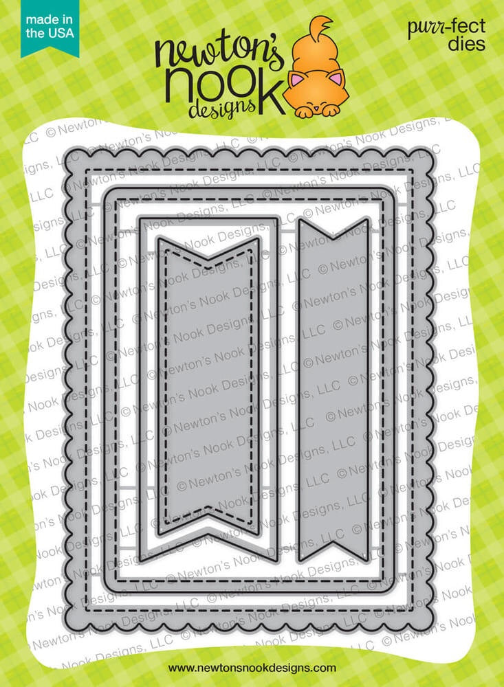 Frames & Flags Die Set - Newton's Nook Designs