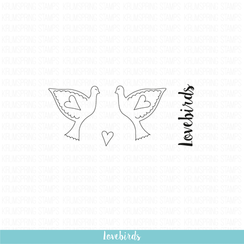 Krumspring Stamps Lovebirds