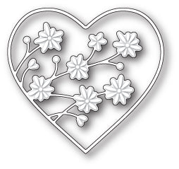 MEMORY BOX DIE - 99629 Drifting Flowers Heart craft die