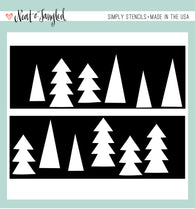 Tree Duo - Simply Stencils - Neat & Tangled
