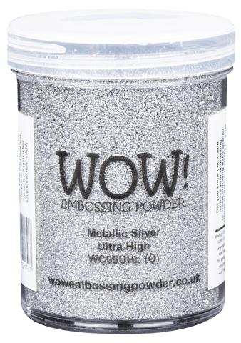 WOW Embossing Powder METALLIC SILVER Ultra High Large Jar