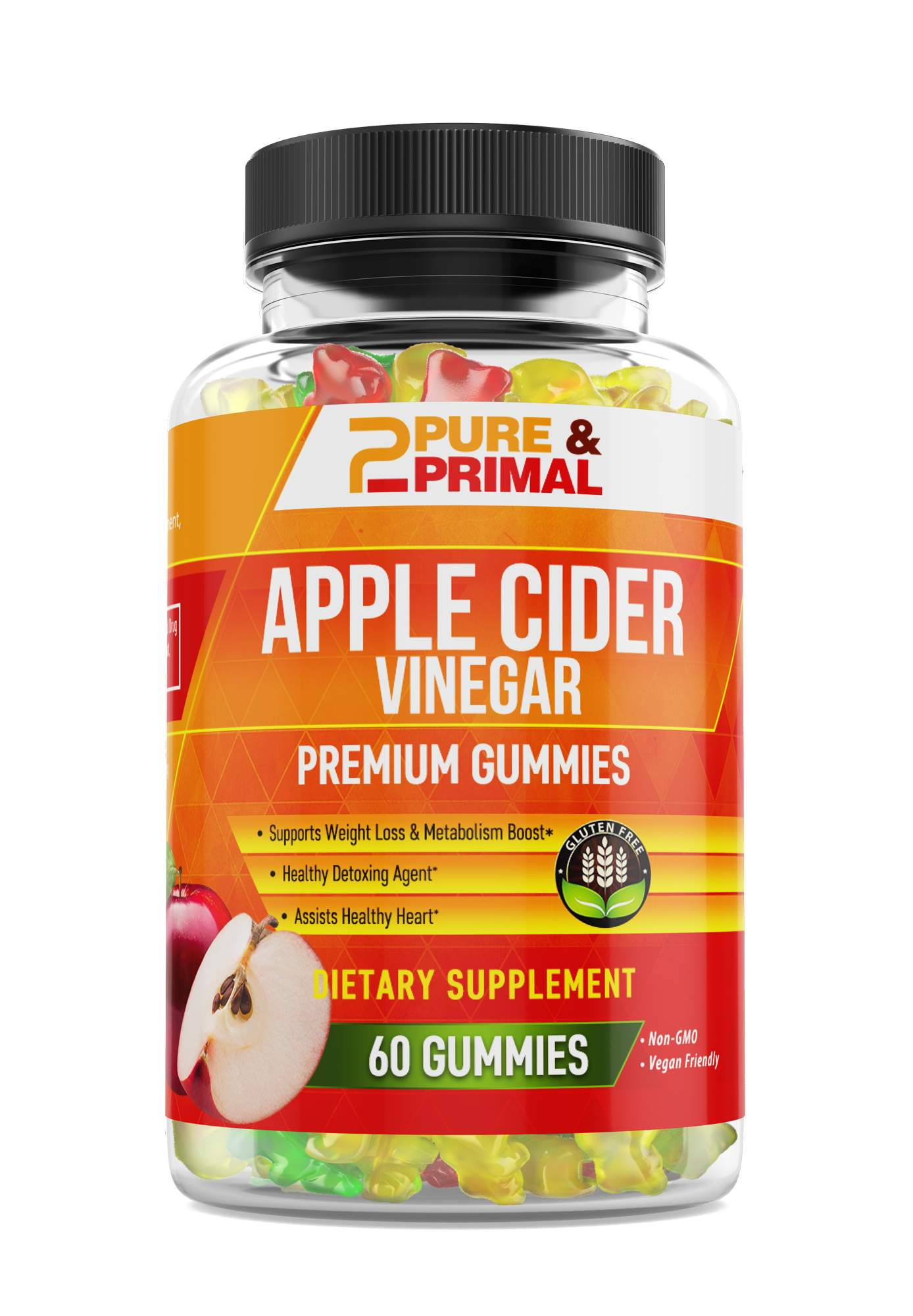(2 Bottles) - Apple Cider Vinegar Gummies - Supports weight loss - Boost Metabolism and Energy - Supports Natural Detoxification
