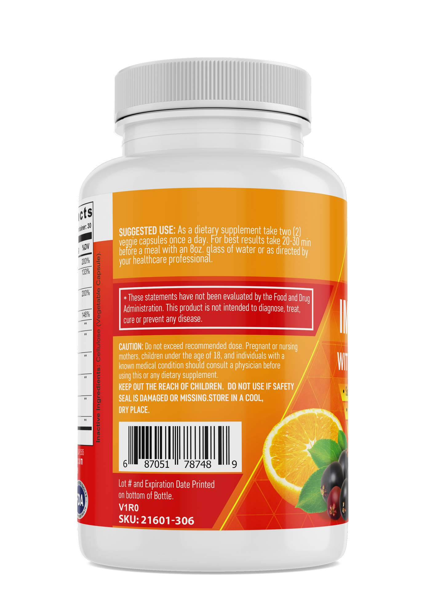 (2 Bottles) - Immune Support with Elderberry and Vitamin C - Packed with Powerful Antioxidants