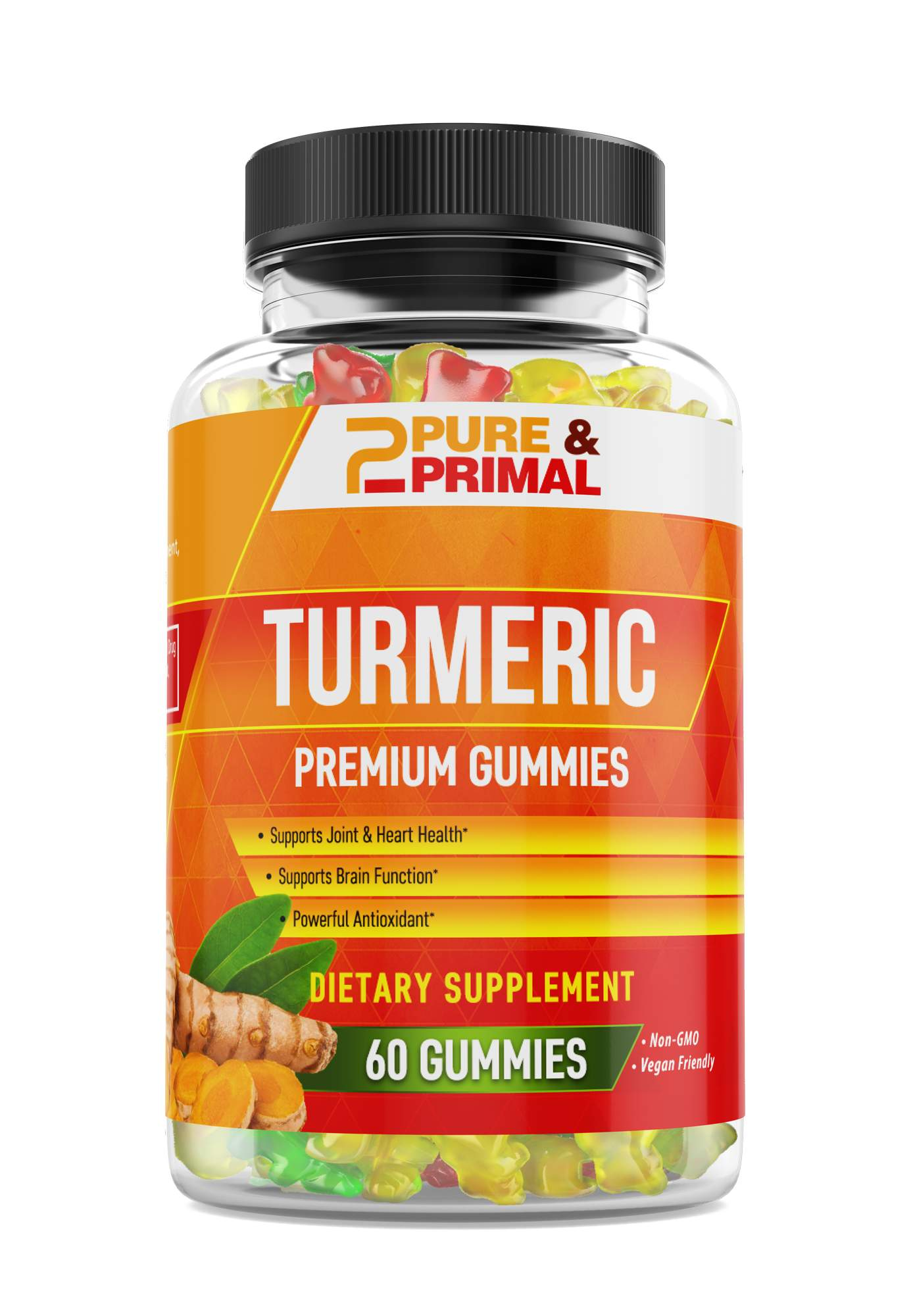 (2 Bottles) - Turmeric Gummies - High in Antioxidants - Helps fight inflammation