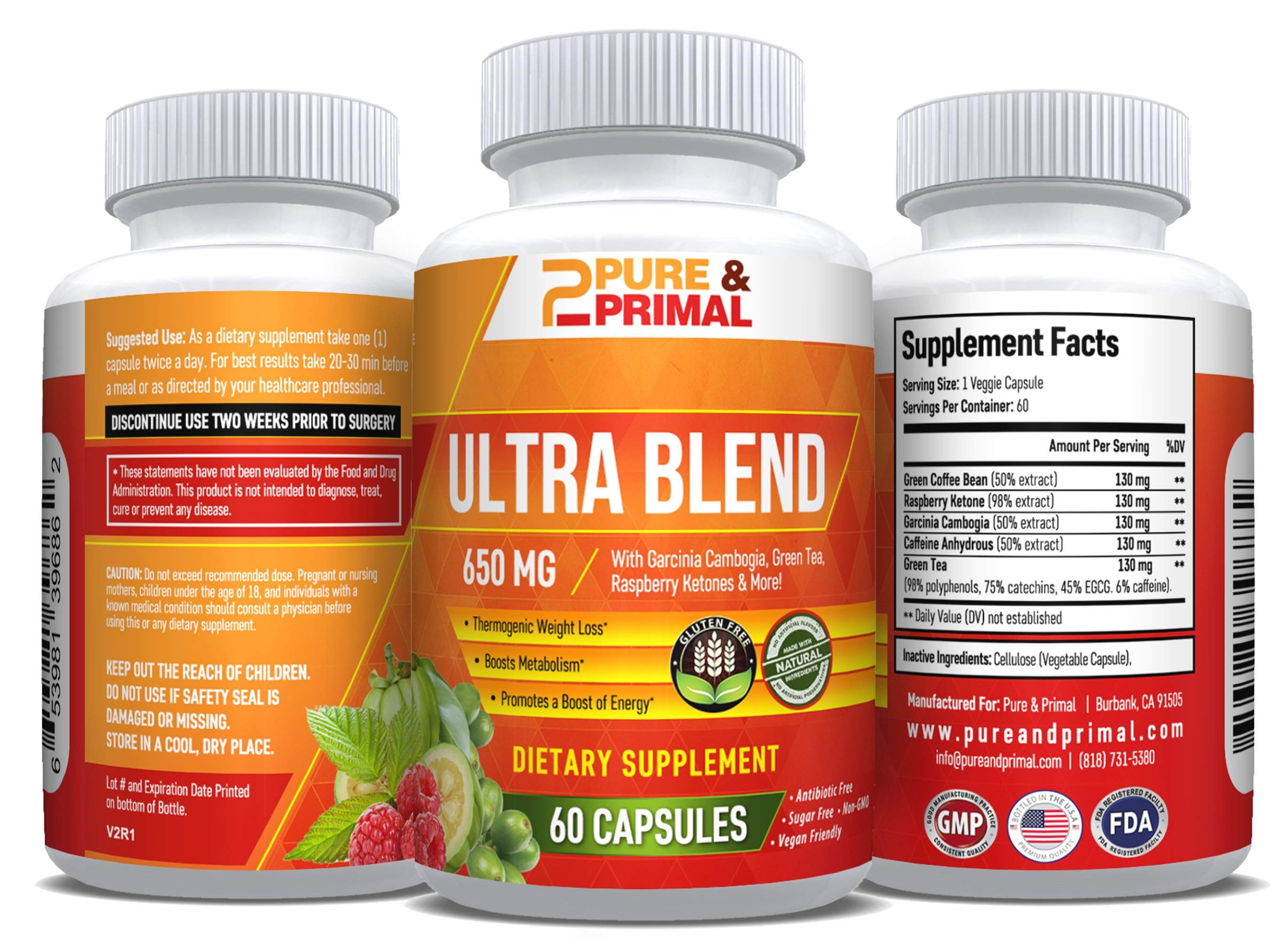 (2 Bottles) - Ultra Blend - Enhances Weight Loss