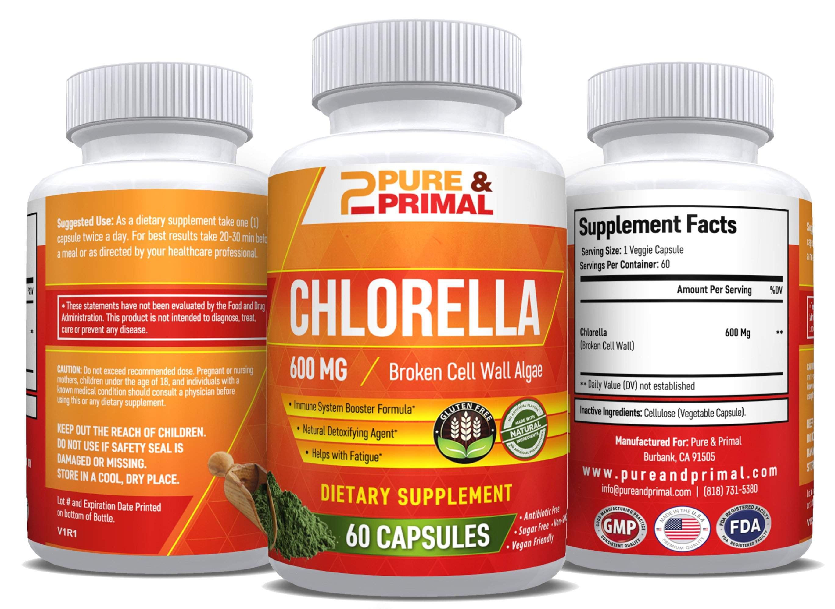 (2 Bottles) - Chlorella Pure - Immune System Booster - Fight Fatigue