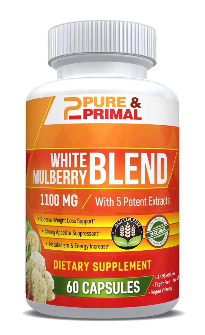 (2 Bottles) - White Mulberry Blend - Natural Weight Loss Supplement