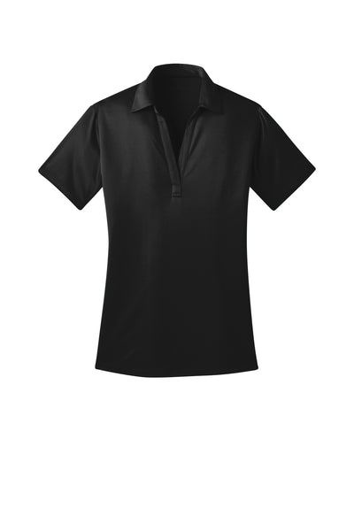 Ilima Ladies Black SilkTouch Dri-Fit Performance Polo