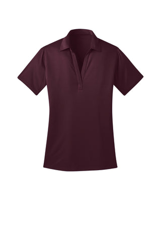 Ilima Ladies Maroon SilkTouch Dri-Fit Performance Polo