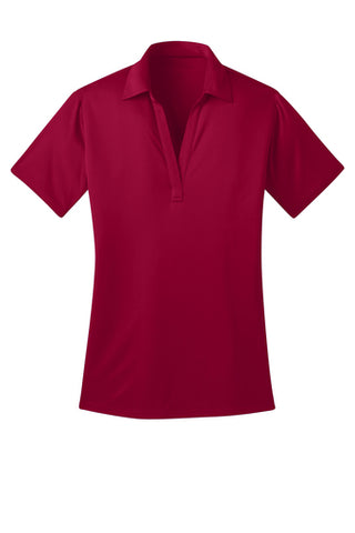 Ilima Ladies Red SilkTouch Dri-Fit Performance Polo