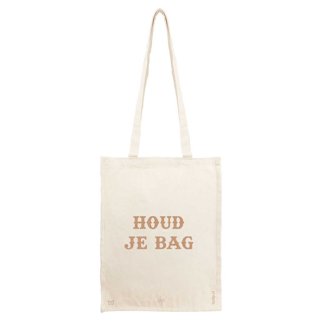 Canvas tas houd je bag met laser gravering