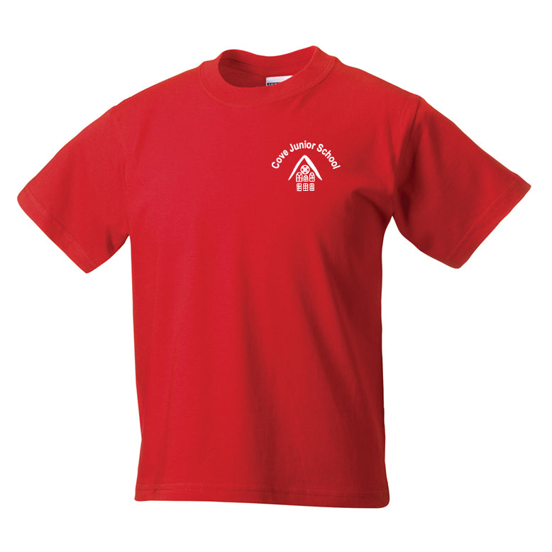 Cove Junior Red PE T-Shirt Bader