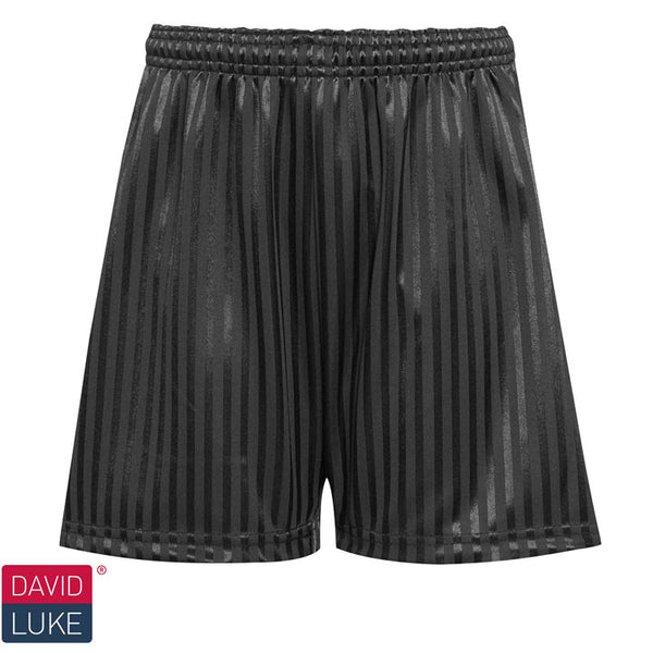 Polyester Shadow Stripe Black Sports Shorts