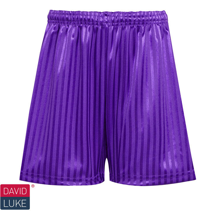 Polyester Shadow Stripe Purple Sports Shorts