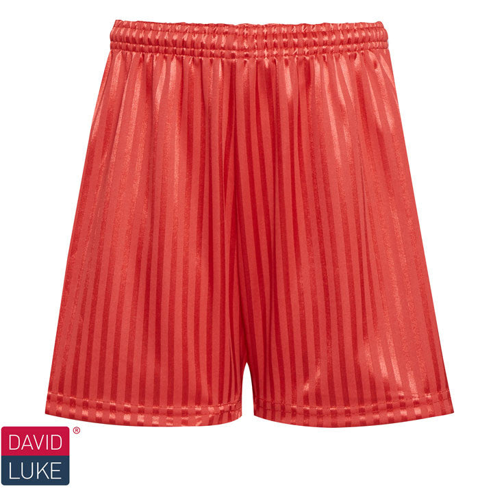Polyester Shadow Stripe Red Sports Shorts
