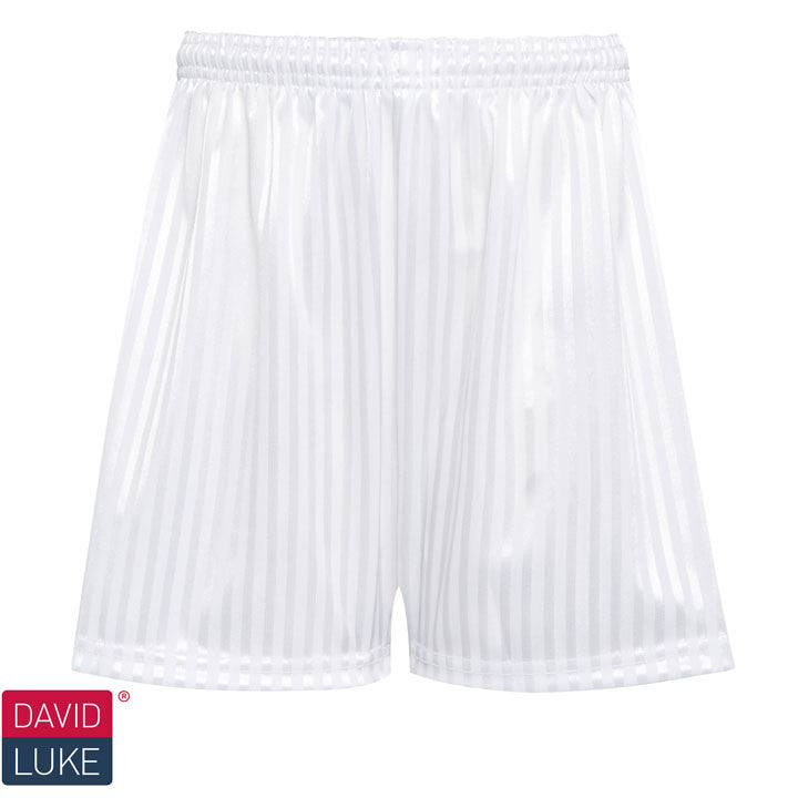 Polyester Shadow Stripe White Sports Shorts