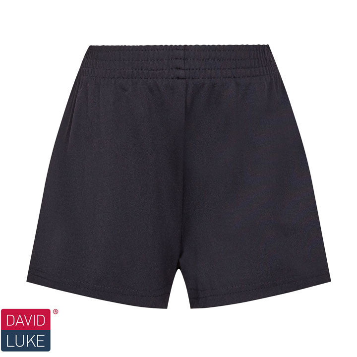 Girls Dry Stretch Black Games Shorts