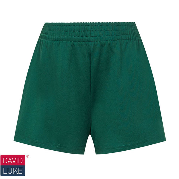 Girls Dry Stretch Bottle Green Games Shorts