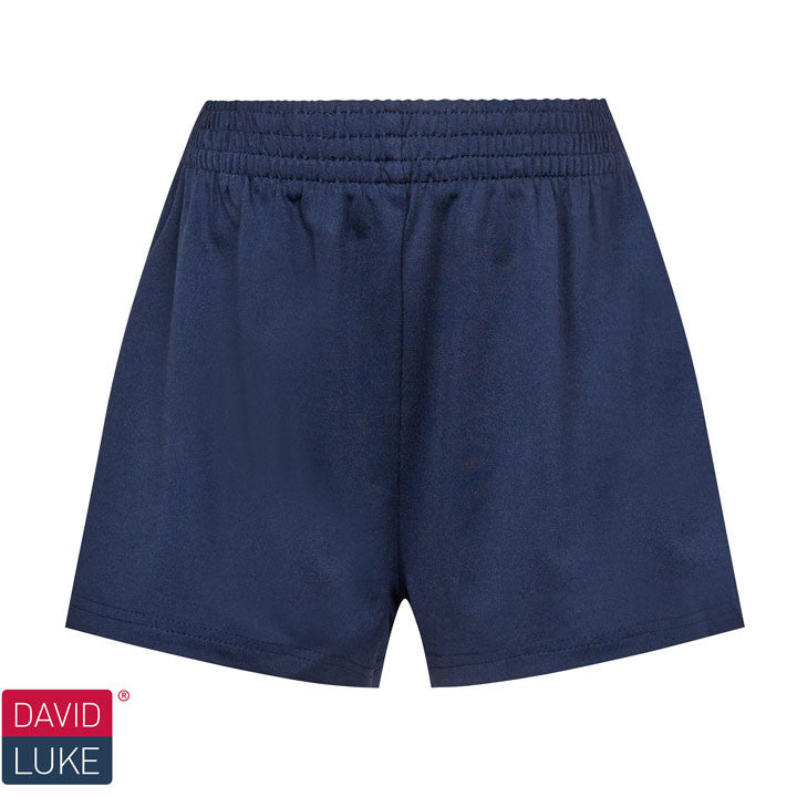 Girls Dry Stretch Navy Games Shorts