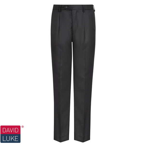 Senior Boys Elastic Back Trousers in Black by David Luke