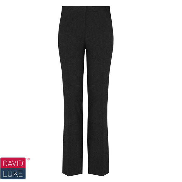 Girls Slim Leg Black Trousers by David Luke