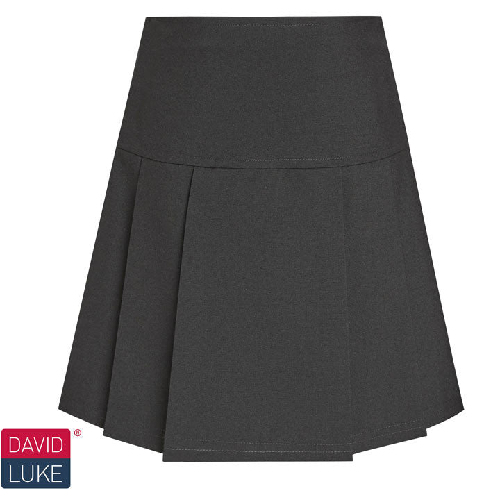 Black Drop Waist Pleated Skirt