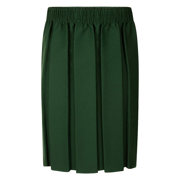 Bottle Green Box Pleat Skirt