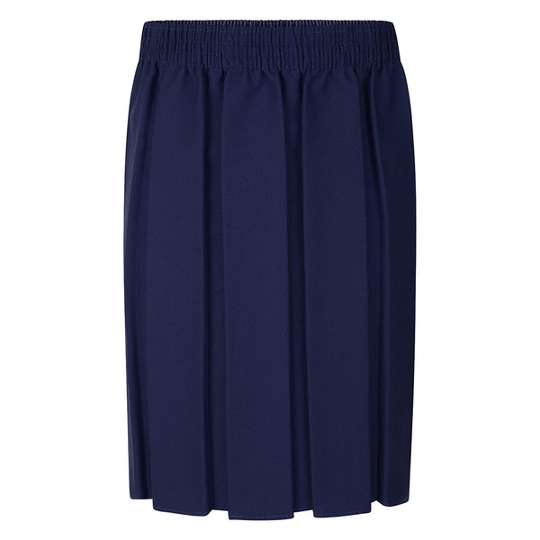 Navy Box Pleat Skirt