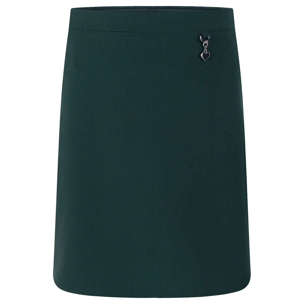 Bottle Green Lycra Skirt with Heart Detail