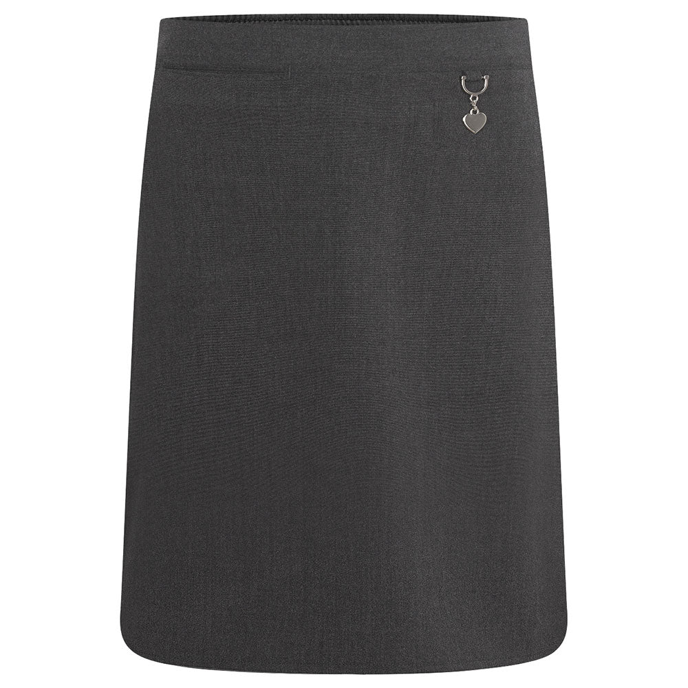 Grey Lycra Skirt with Heart Detail