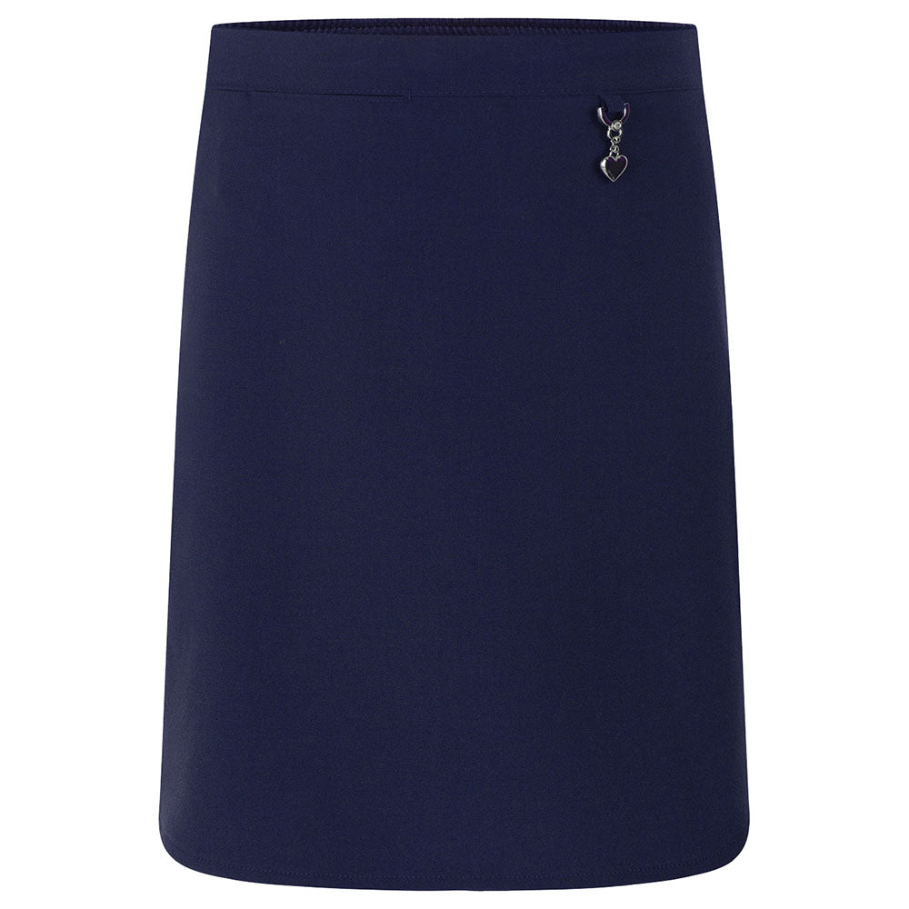 Navy Lycra Skirt with Heart Detail