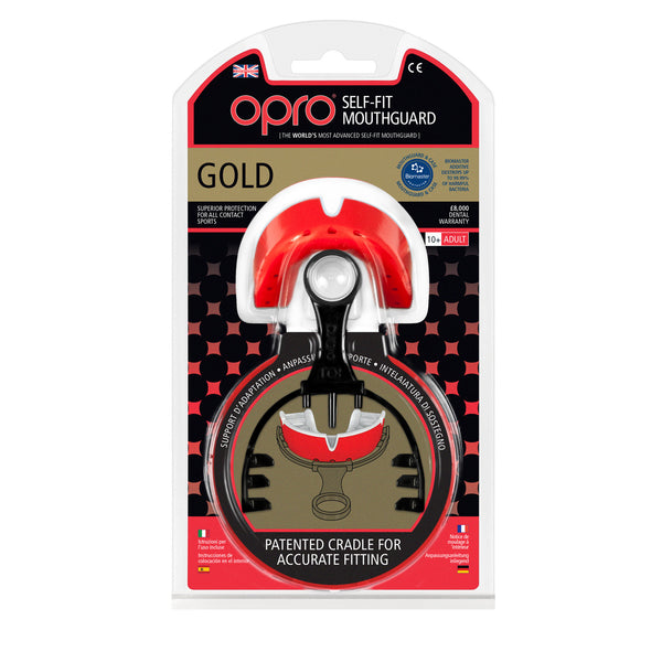 Opro Shield Gold Mouth Guard - Red