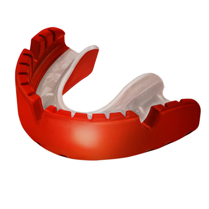 Opro Shield Gold Braces Mouth Guard - Red/White