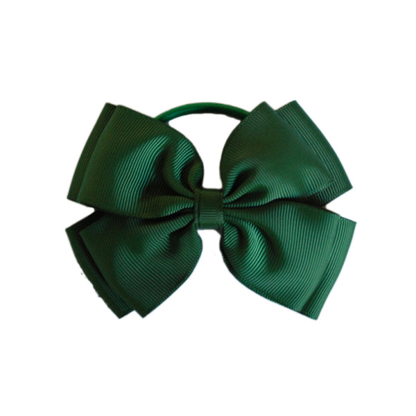 Opal Bow Hair Bobble Green