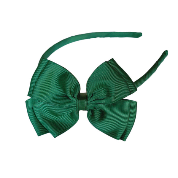 Opal Bow Headband Green