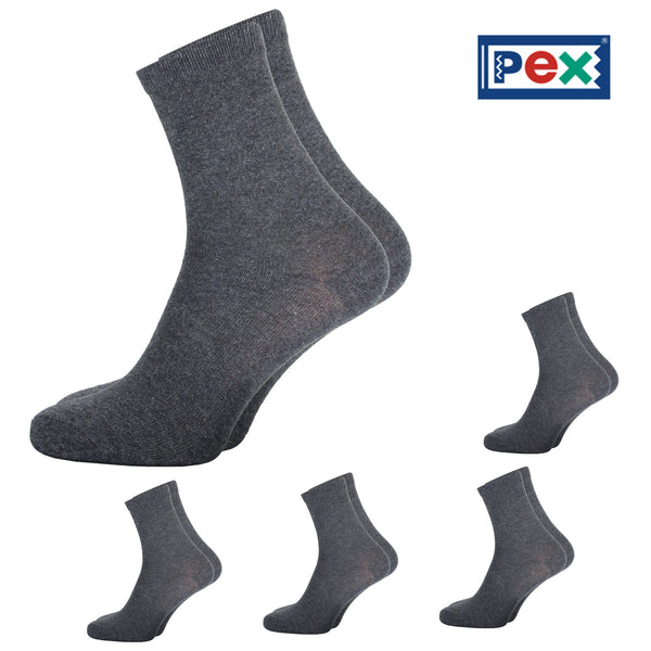 Pex Award 5 Pair Pack of Charcoal Grey Ankle Socks