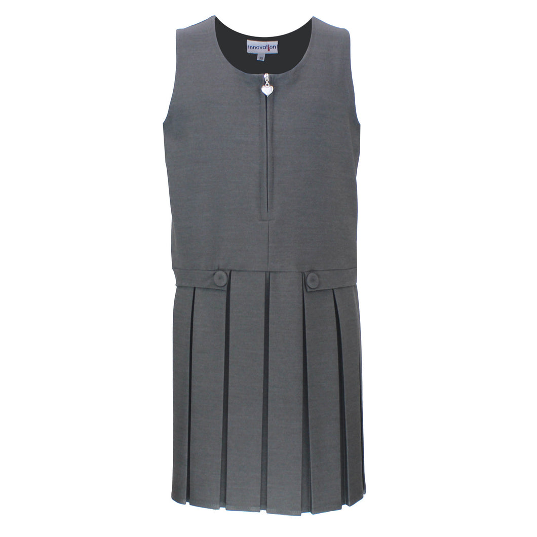 Grey Two Button Pinafore