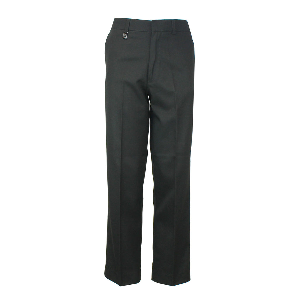 Boys Black School Trousers with Waist Adjuster by Zeco