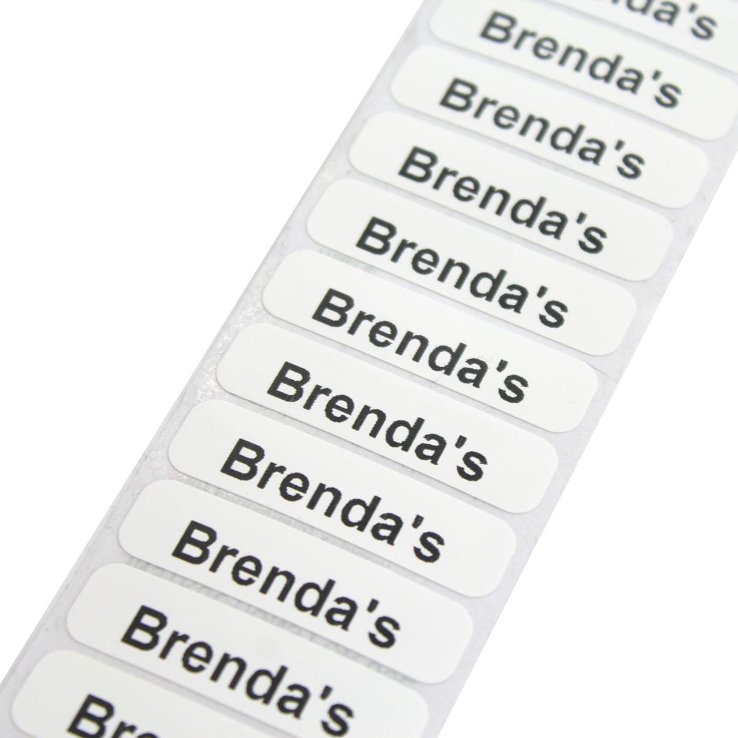 Iron On Printed Name Labels