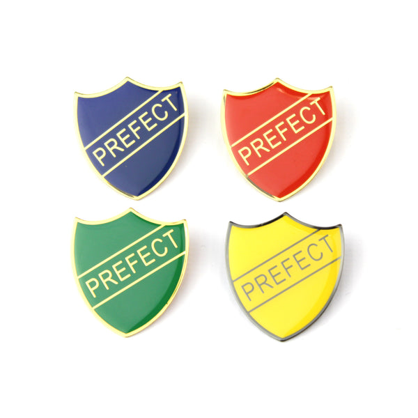 School Prefect Shield Pin Badge