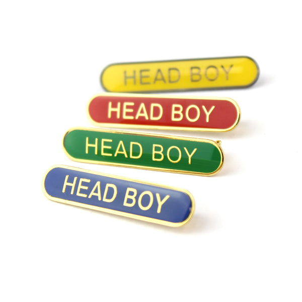 School Head Boy Bar Pin Badge