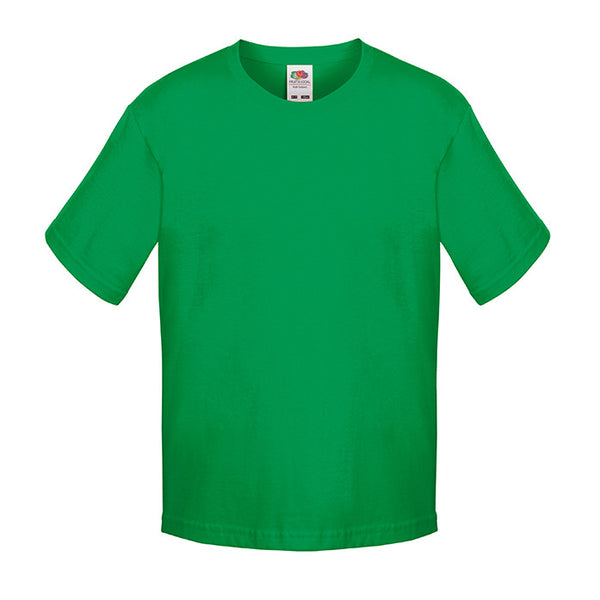 Fruit of the Loom Emerald/Kelly Green 100% Cotton T-Shirt